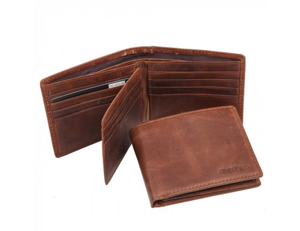 Шкіряний портмоне Ruff Ryder RR-38301W коричневий