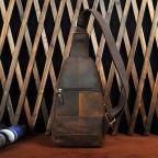 Мужская сумка на плечо Tiding Bag M37-XB010C Коричневая - Фото № 106