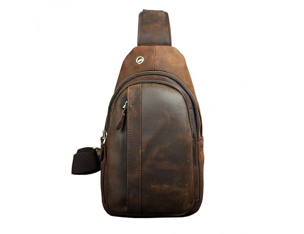 Мужская сумка на плечо Tiding Bag M37-XB010C Коричневая - Фото № 2