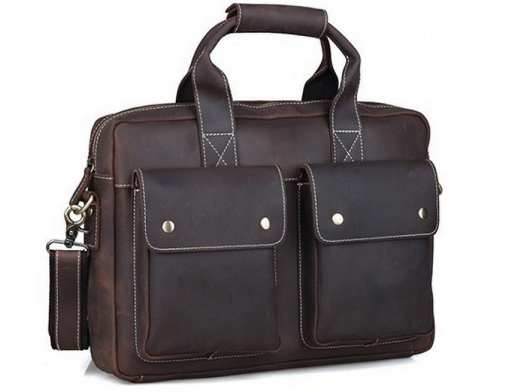 Мужская кожаная сумка TIDING BAG T1123 - Фото № 1