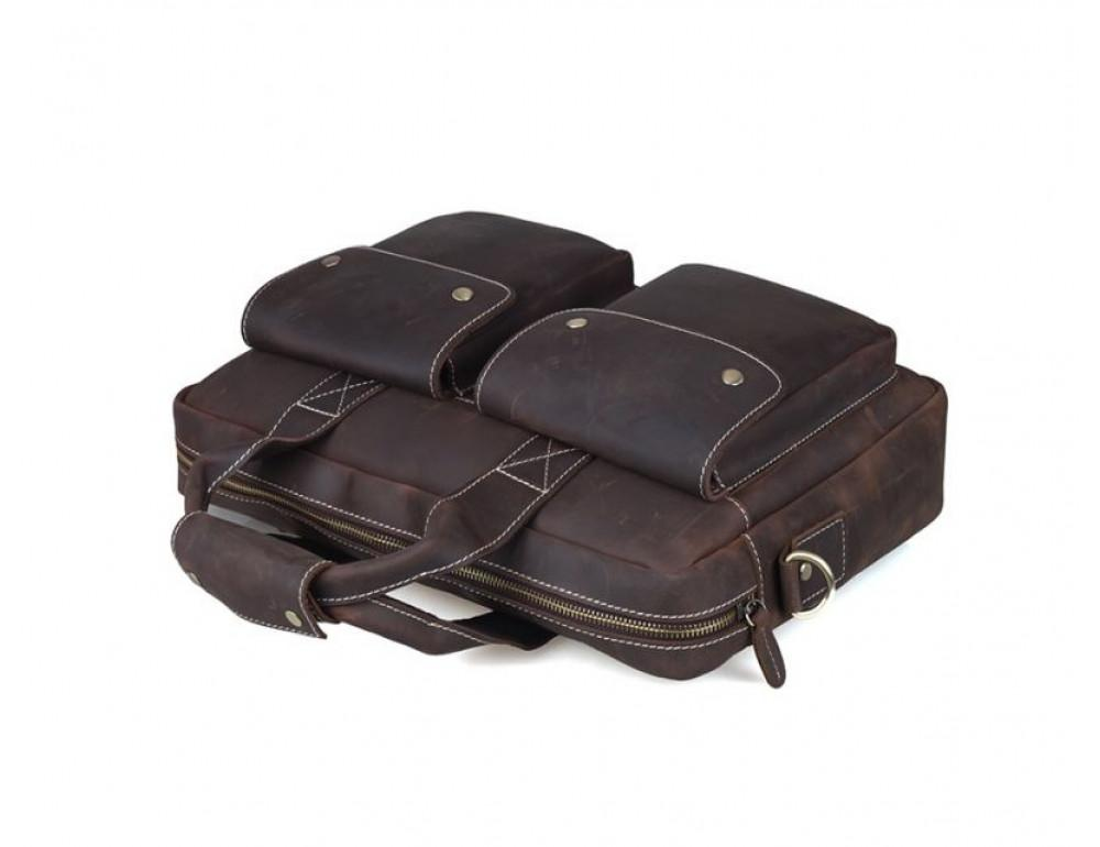 Мужская кожаная сумка TIDING BAG T1123 - Фото № 3