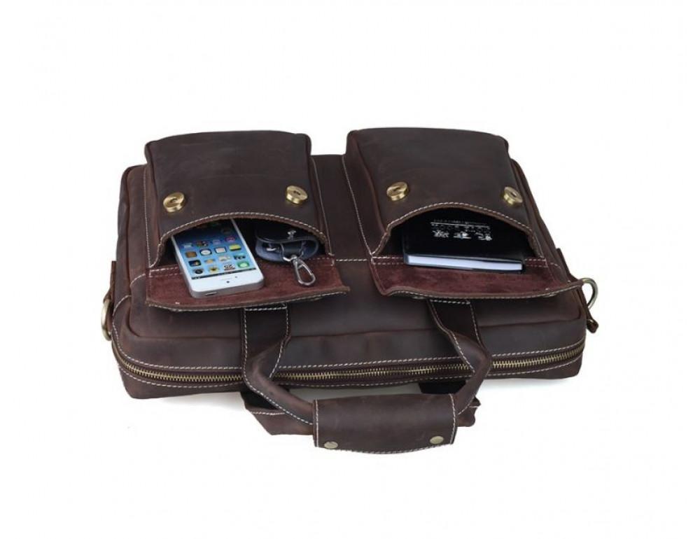 Мужская кожаная сумка TIDING BAG T1123 - Фото № 4