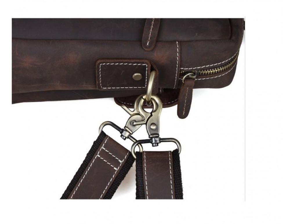 Мужская кожаная сумка TIDING BAG T1123 - Фото № 5