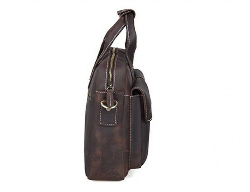 Мужская кожаная сумка TIDING BAG T1123 - Фото № 6