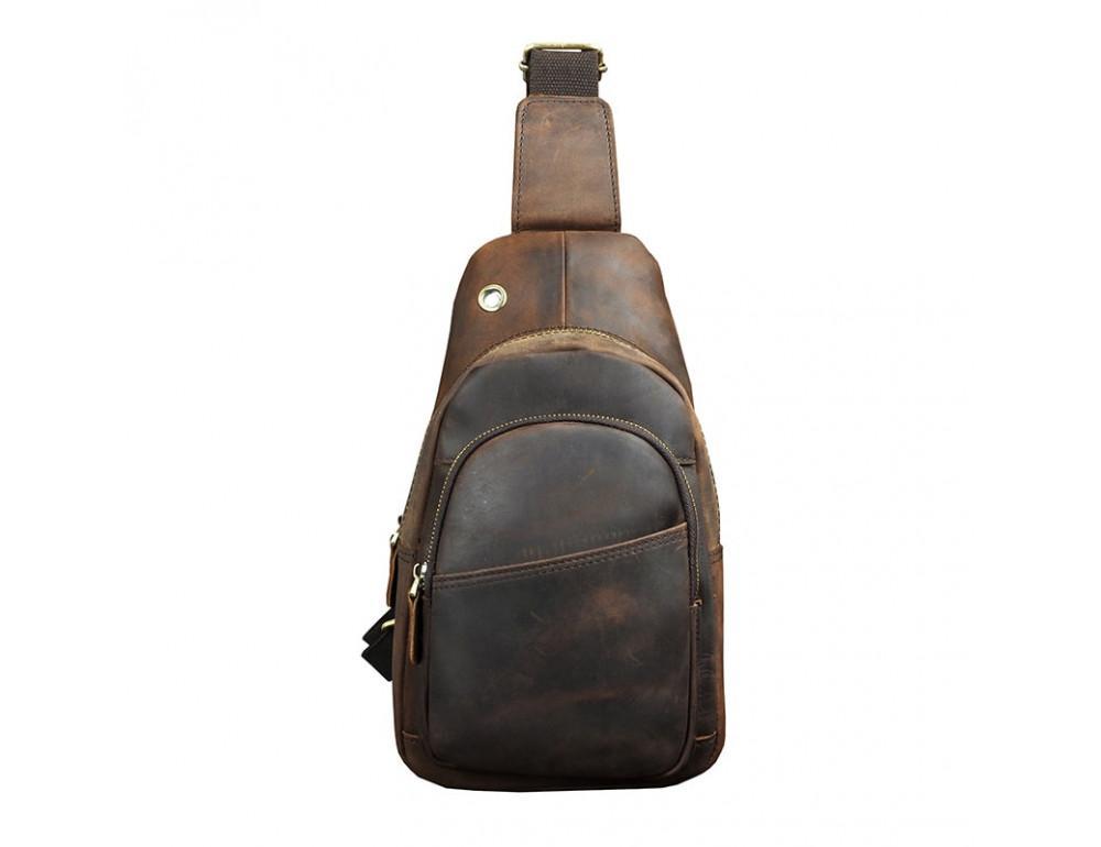 Мужская сумка на плечо Tiding Bag M37-XB8008C Коричневая - Фото № 6