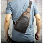Мужская сумка на плечо Tiding Bag M37-XB8008C Коричневая - Фото № 102