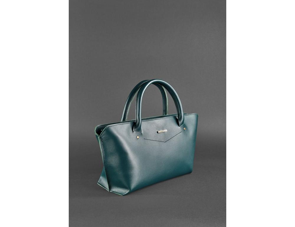 Кожаная женская сумка Blanknote BN-BAG-24-malachite малахит - Фото № 2