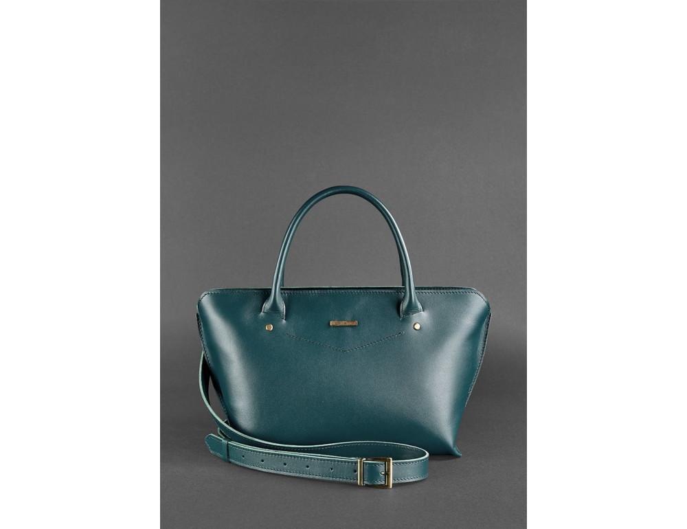 Кожаная женская сумка Blanknote BN-BAG-24-malachite малахит - Фото № 3