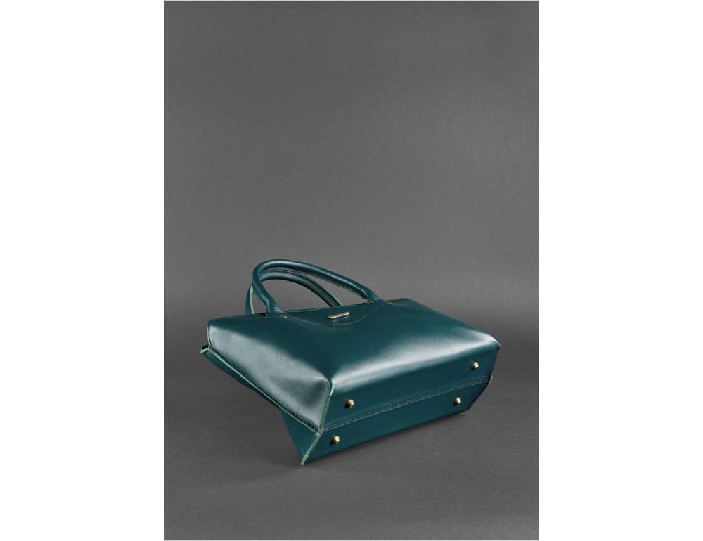 Кожаная женская сумка Blanknote BN-BAG-24-malachite малахит - Фото № 4