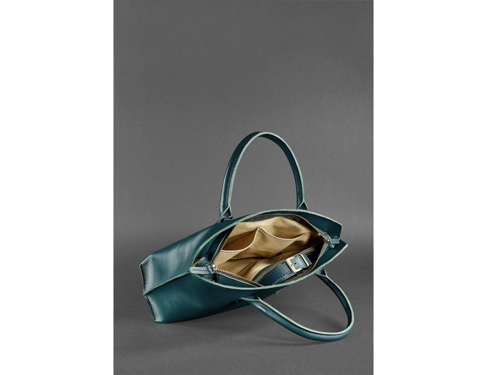 Кожаная женская сумка Blanknote BN-BAG-24-malachite малахит - Фото № 5