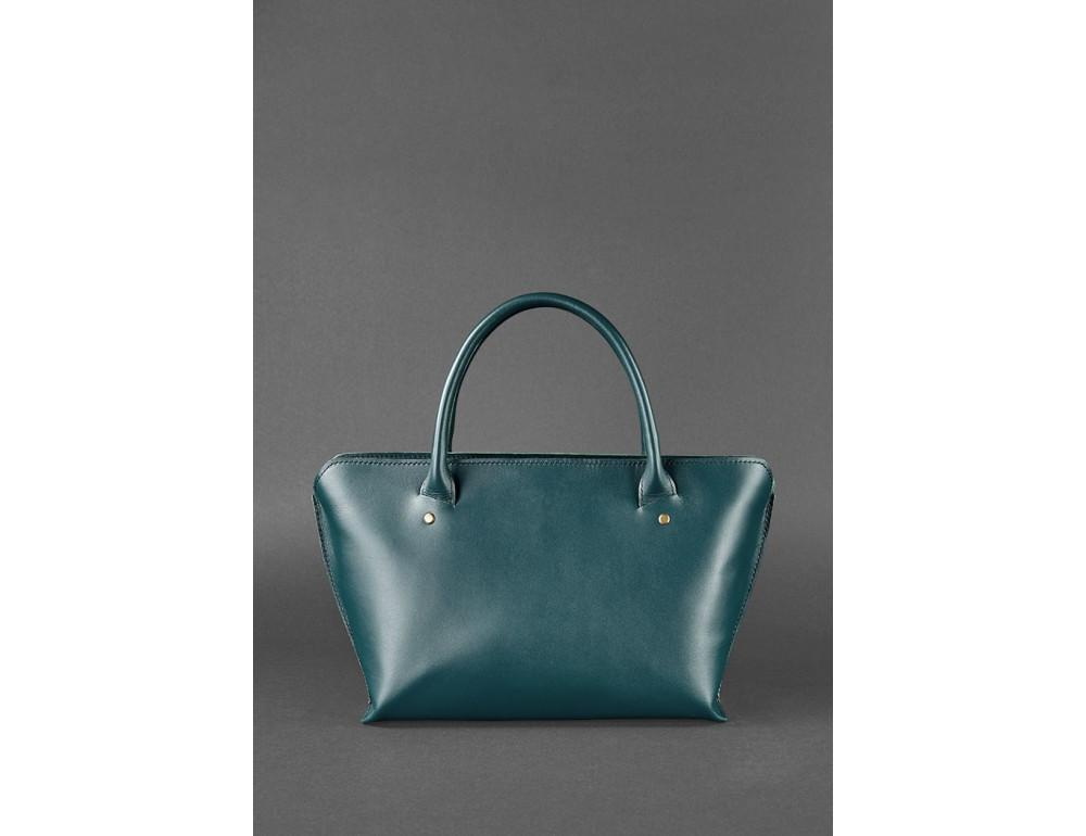 Кожаная женская сумка Blanknote BN-BAG-24-malachite малахит - Фото № 6
