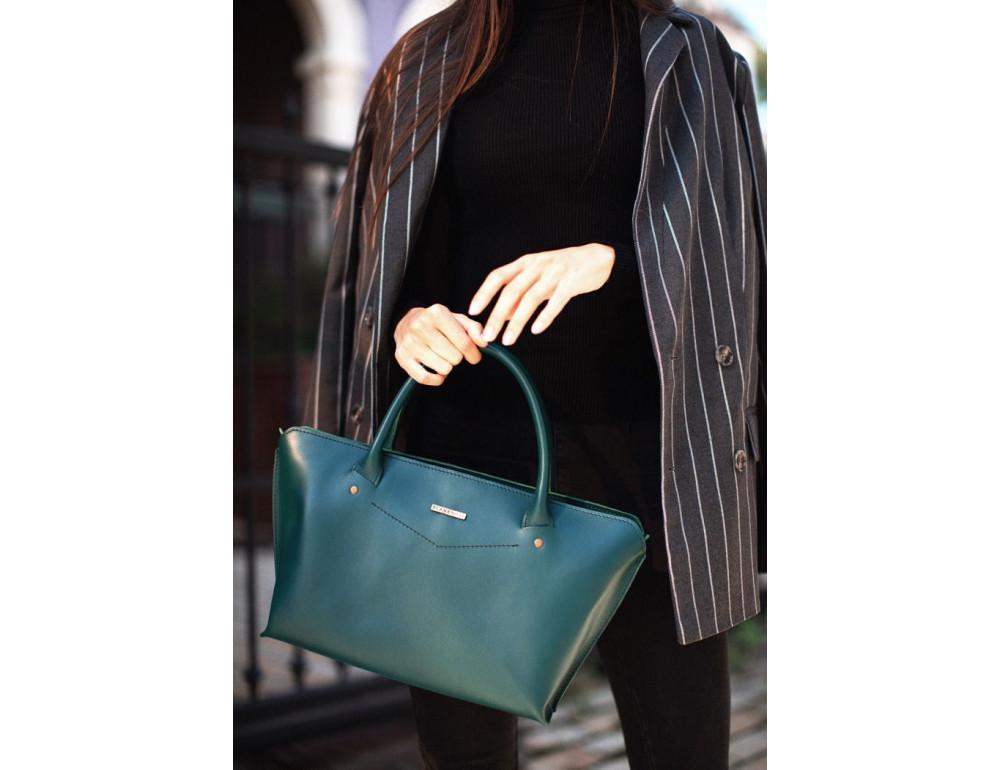 Кожаная женская сумка Blanknote BN-BAG-24-malachite малахит - Фото № 8