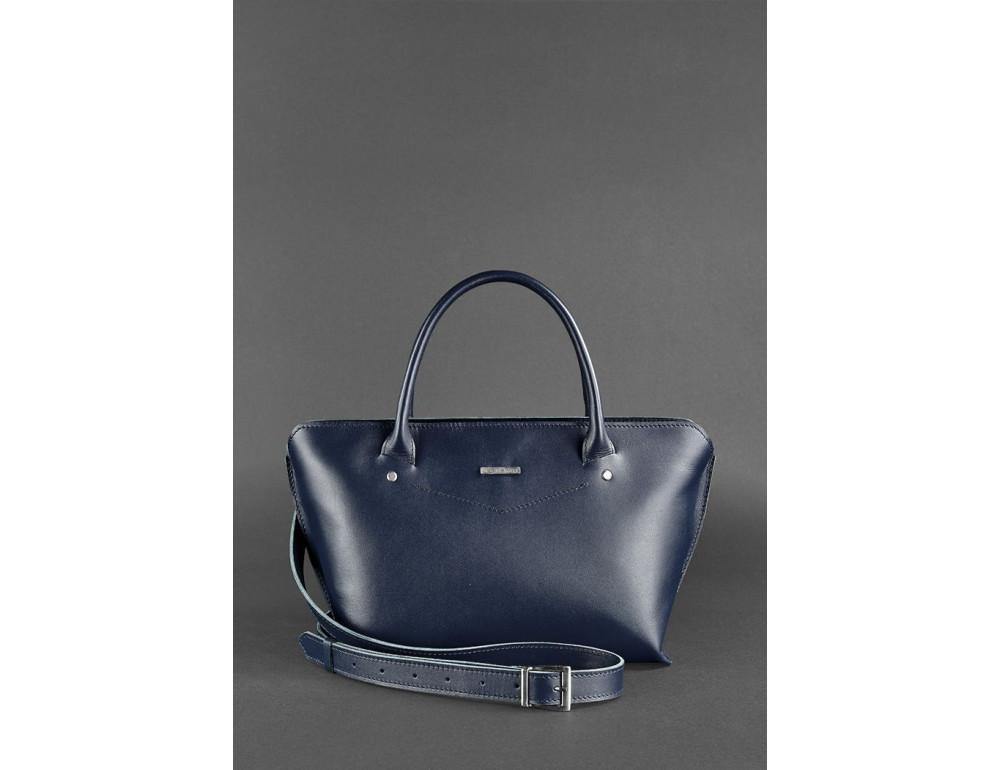 Кожаная женская сумка Blanknote BN-BAG-24-navy-blue тёмно-синий - Фото № 2