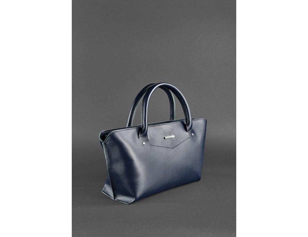 Кожаная женская сумка Blanknote BN-BAG-24-navy-blue тёмно-синий - Фото № 3