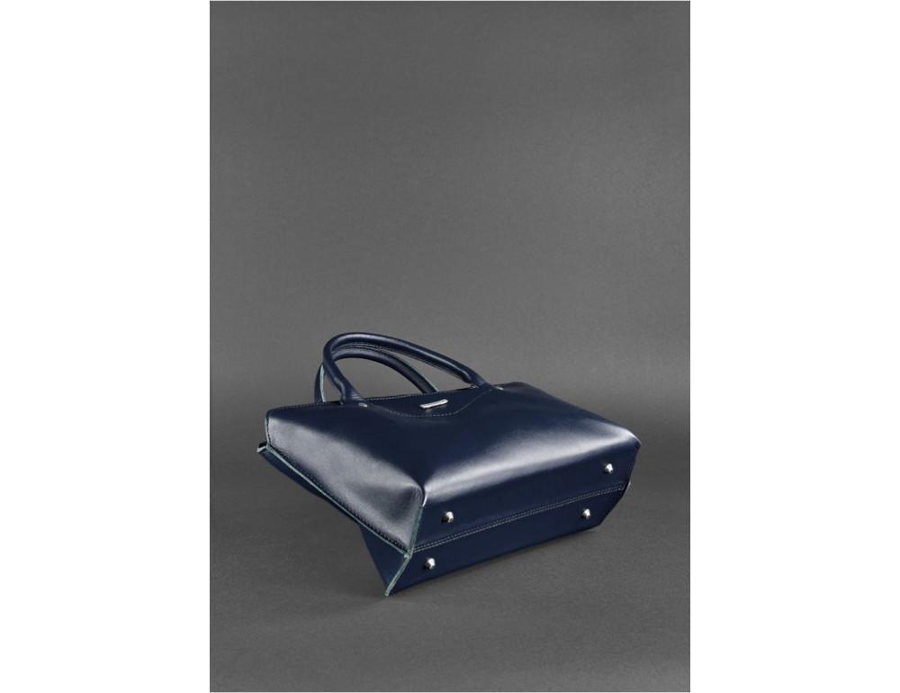 Кожаная женская сумка Blanknote BN-BAG-24-navy-blue тёмно-синий - Фото № 4