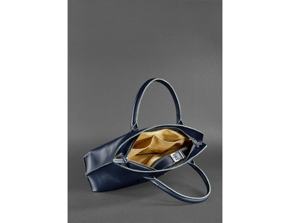 Кожаная женская сумка Blanknote BN-BAG-24-navy-blue тёмно-синий - Фото № 5