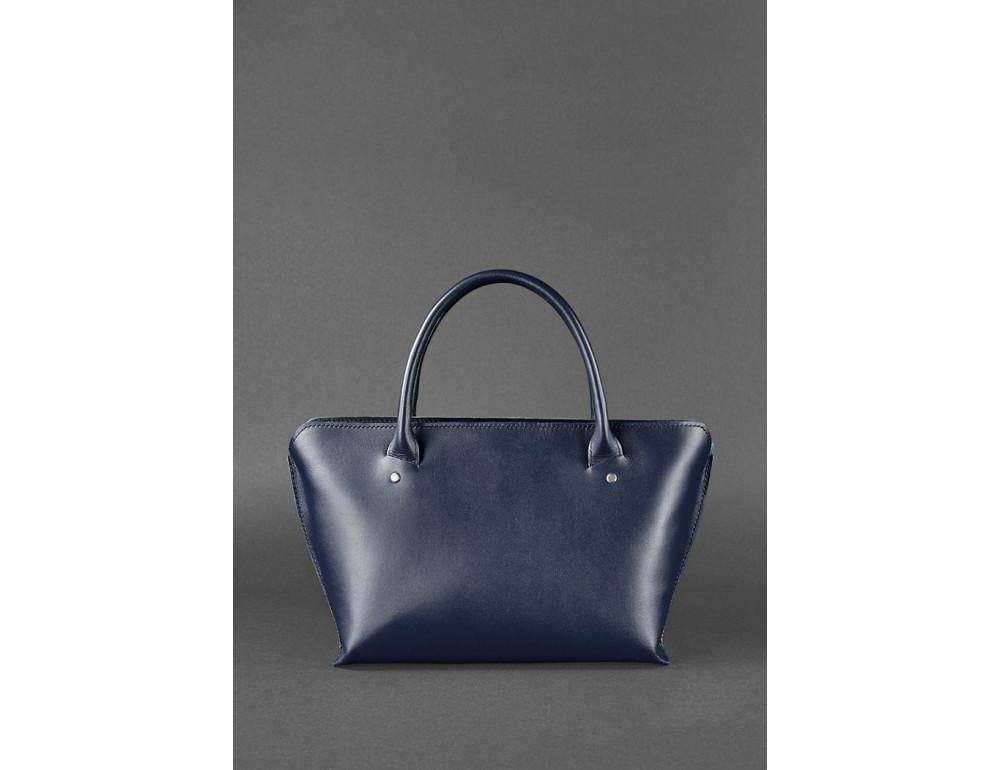 Кожаная женская сумка Blanknote BN-BAG-24-navy-blue тёмно-синий - Фото № 6