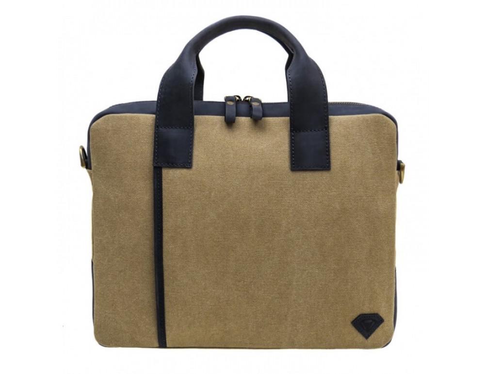 Комбинированная сумка из кожи и ткани Black Diamond BDtM18Dcrh-pes - Фото № 2