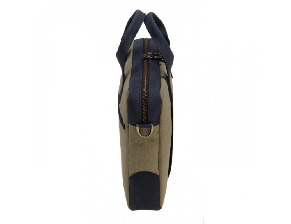Комбинированная сумка из кожи и ткани Black Diamond BDtM18Dcrh-pes - Фото № 4