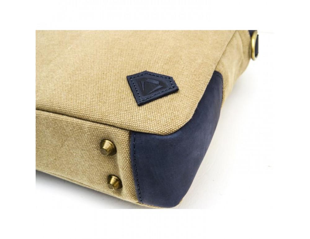 Комбинированная сумка из кожи и ткани Black Diamond BDtM18Dcrh-pes - Фото № 6