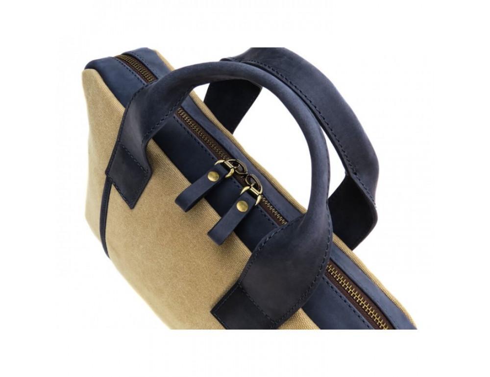 Комбинированная сумка из кожи и ткани Black Diamond BDtM18Dcrh-pes - Фото № 7