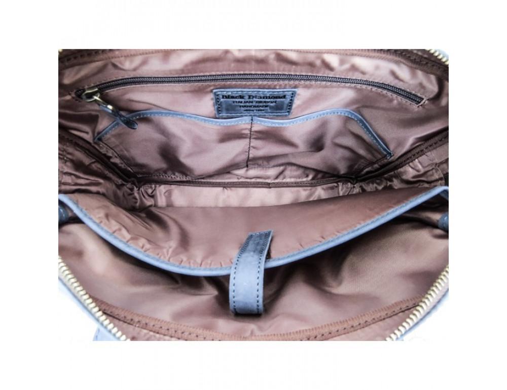 Комбинированная сумка из кожи и ткани Black Diamond BDtM18Dcrh-pes - Фото № 8