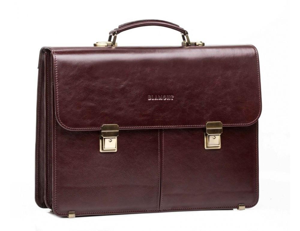 Мужской кожаный портфель Blamont Bn063RP