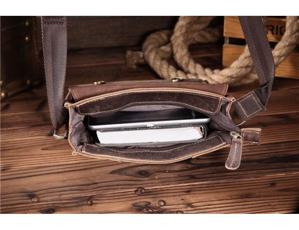 Мужская кожаная сумка на плечо Bexhill bx9382 - Фото № 7