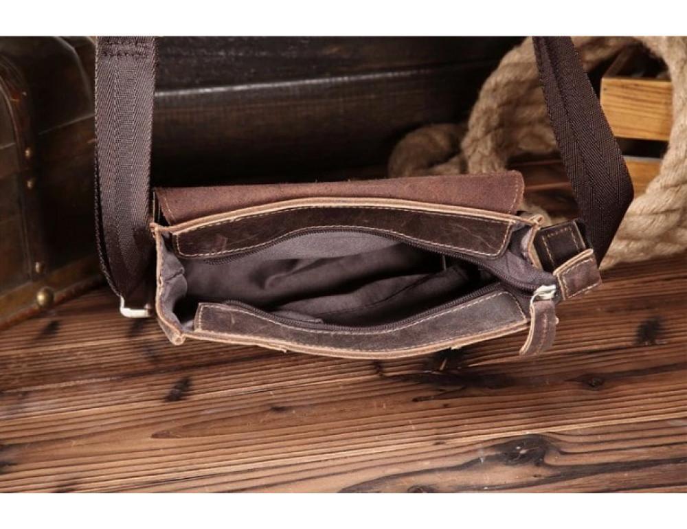 Мужская кожаная сумка на плечо Bexhill bx9382 - Фото № 8