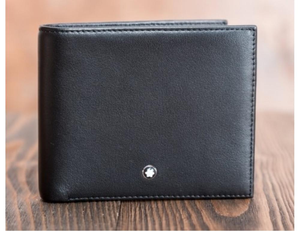 Кожаное портмоне Montblanc MO-6307A чёрный - Фото № 3