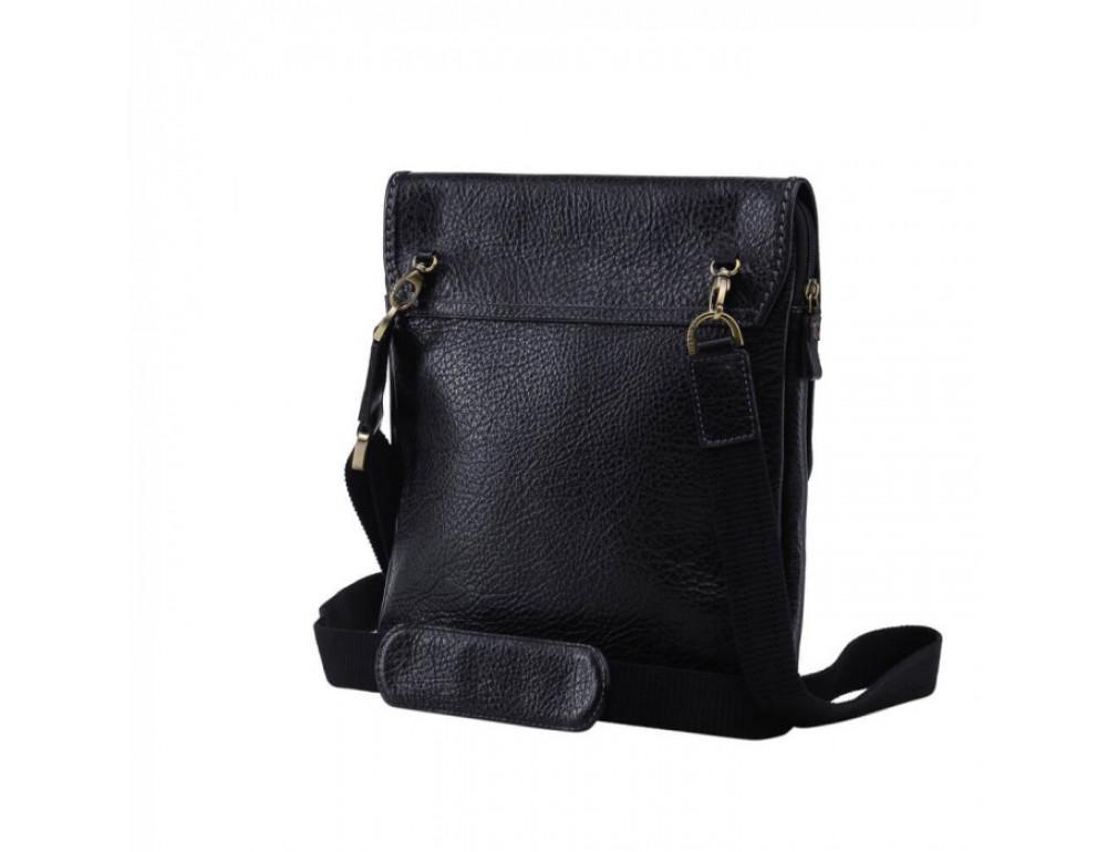 Практичный кожаный мессенджер Tifenis TF69815-9A чёрный - Фото № 2