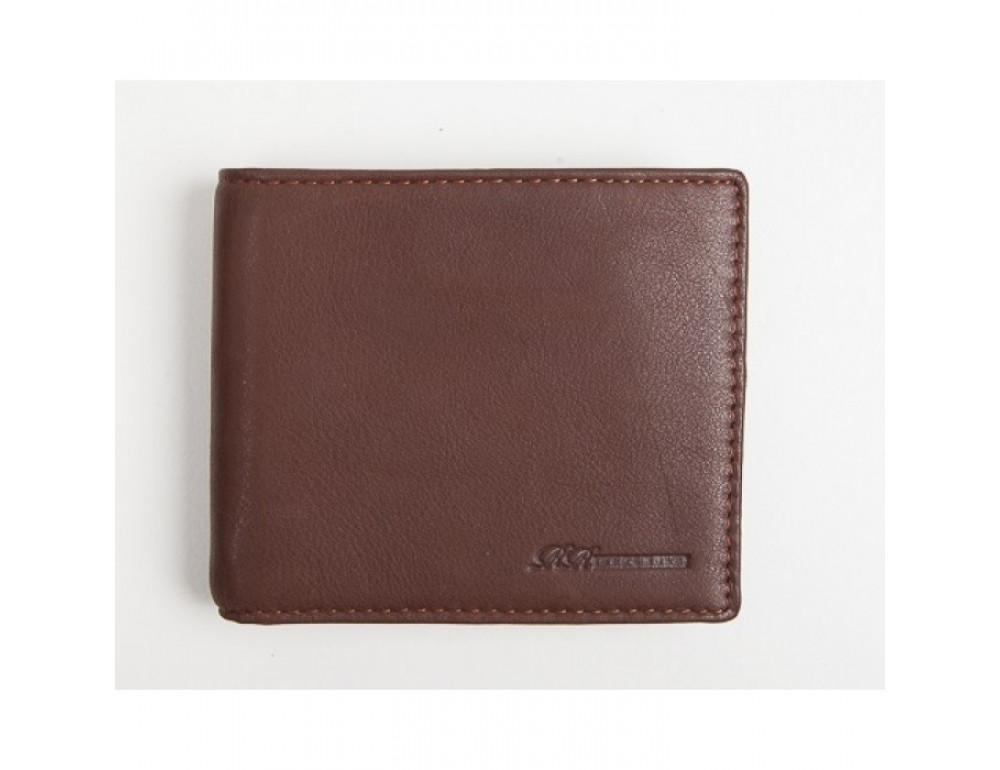 Кожаный портмоне Ruff Ryder RE-00285W коричневый - Фото № 2