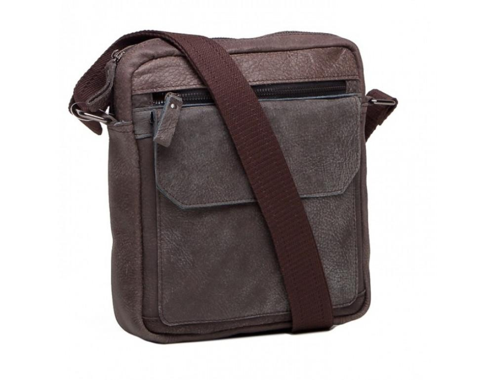 Кожаная сумка через плечо Tiding Bag M41-8264DB серая