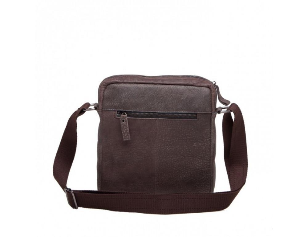 Кожаная сумка через плечо Tiding Bag M41-8264DB серая - Фото № 3