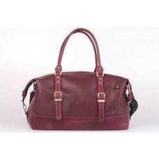 Бордовая кожаная дорожная сумка Manufatto 13943 №7