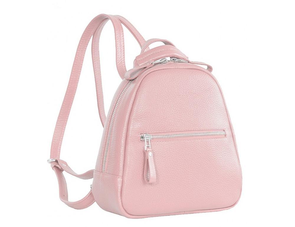 Розовый кожаный рюказ Issa Hara BPM3-05 (45-00) - Фото № 3