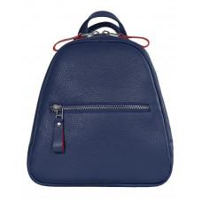 Синий кожаный рюкзак триугольник Issa Hara BPM3-05 (13-15)