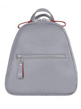Серый кожаный рюкзак триугольник Issa Hara BPM3-05 (16-15)