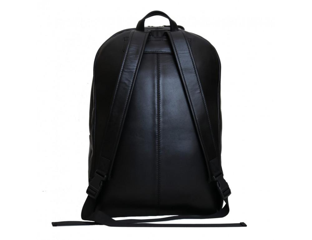 Вместительный кожаный рюкзак issahara BPМ9 (01-00) чёрный - Фото № 2