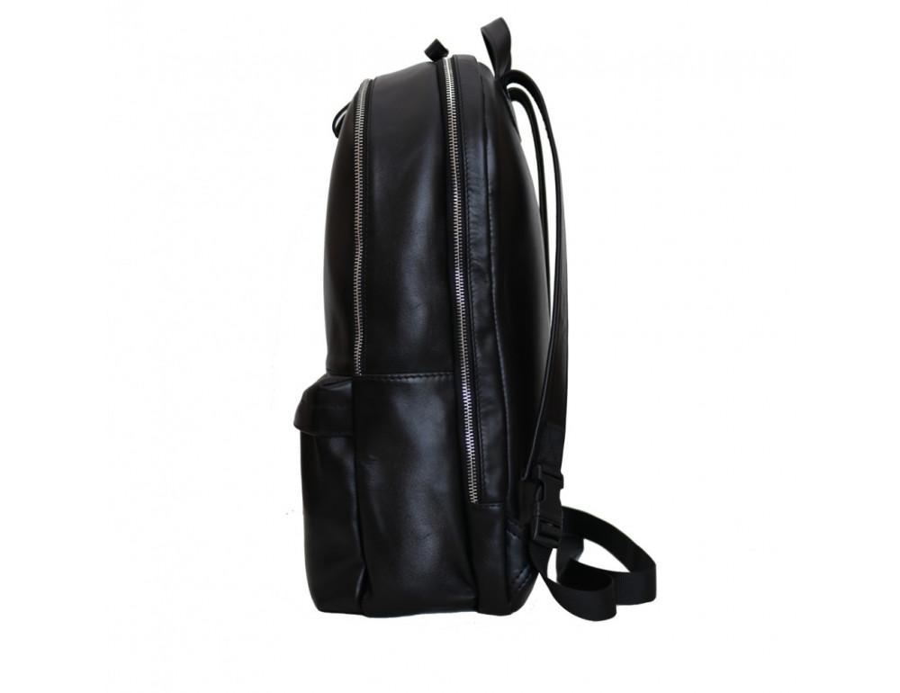 Вместительный кожаный рюкзак issahara BPМ9 (01-00) чёрный - Фото № 3