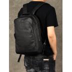Чёрный кожаный рюкзак большой Bexhill BX-883A - Фото № 101