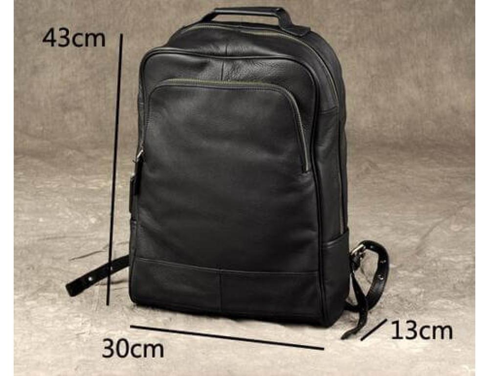 Чёрный кожаный рюкзак большой Bexhill BX-883A - Фото № 3