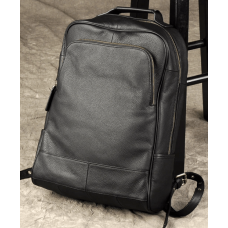 Чёрный кожаный рюкзак большой Bexhill BX-883A