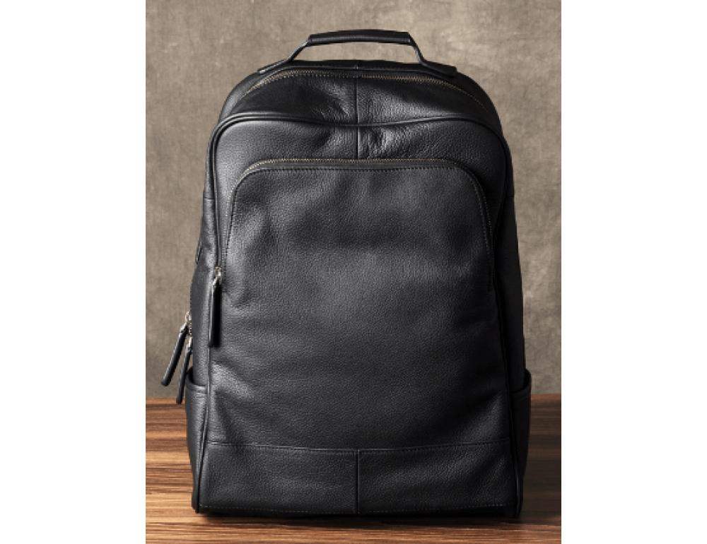 Чёрный кожаный рюкзак большой Bexhill BX-883A - Фото № 4