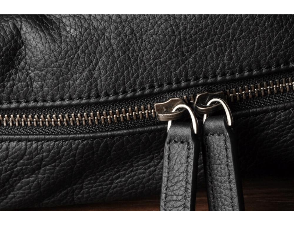 Чёрный кожаный рюкзак большой Bexhill BX-883A - Фото № 5