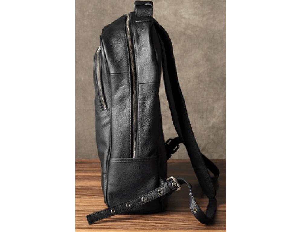 Чёрный кожаный рюкзак большой Bexhill BX-883A - Фото № 7