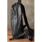Чёрный кожаный рюкзак большой Bexhill BX-883A - Фото № 106