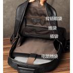 Чёрный кожаный рюкзак большой Bexhill BX-883A - Фото № 107