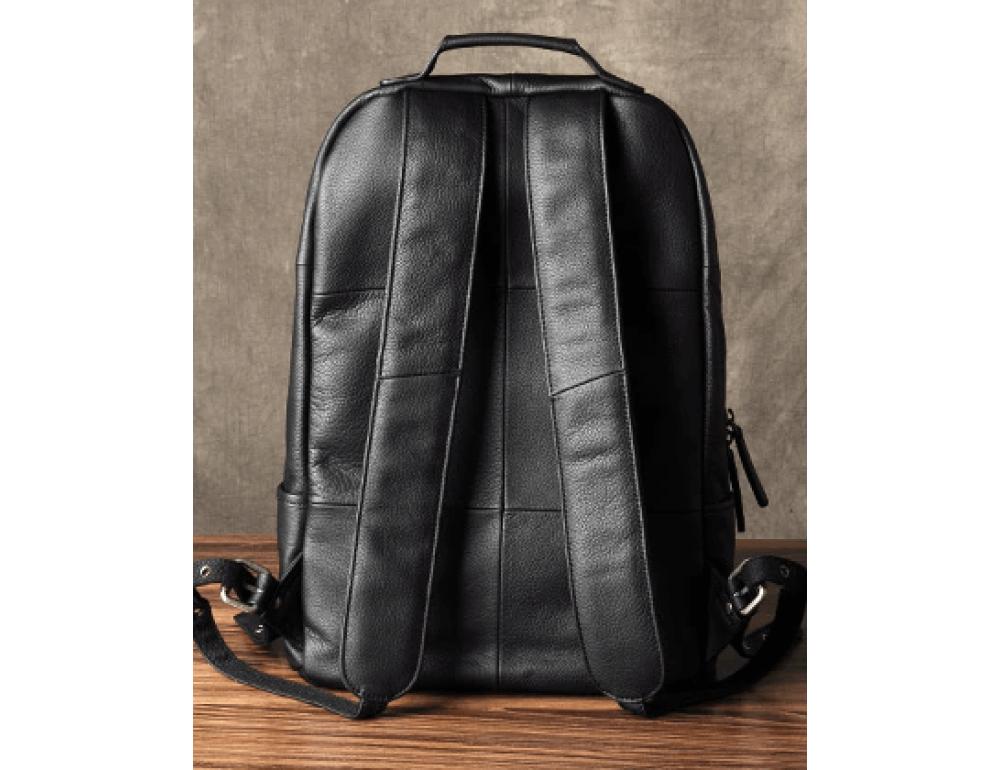 Чёрный кожаный рюкзак большой Bexhill BX-883A - Фото № 10
