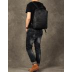 Чёрный кожаный рюкзак большой Bexhill BX-883A - Фото № 108